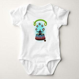tha amazing hedgehog juggling sloth baby bodysuit