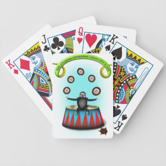 tha amazing hedgehog juggling sloth bicycle playing cards