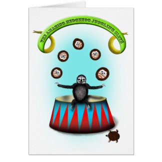 tha amazing hedgehog juggling sloth card