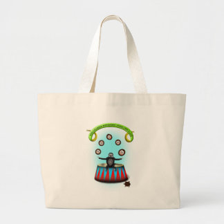 tha amazing hedgehog juggling sloth large tote bag
