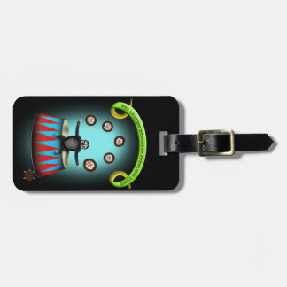 tha amazing hedgehog juggling sloth luggage tag