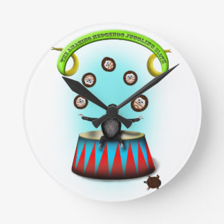 tha amazing hedgehog juggling sloth round clock