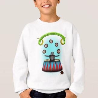 tha amazing hedgehog juggling sloth sweatshirt