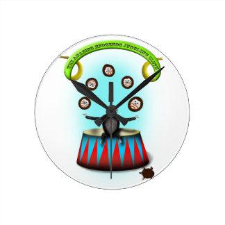 tha amazing hedgehog juggling sloth wall clock