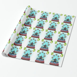 tha amazing hedgehog juggling sloth wrapping paper