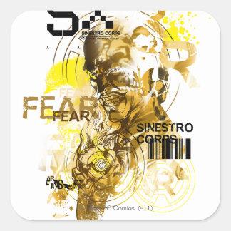 Thaal Sinestro 11 Square Sticker