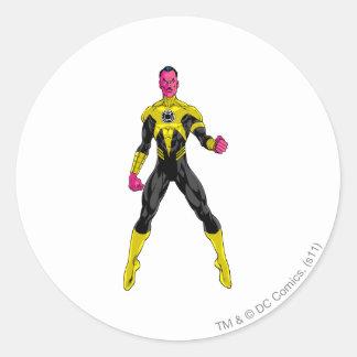 Thaal Sinestro 4 Round Sticker