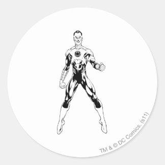 Thaal Sinestro 6 Round Sticker