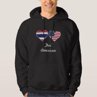 Thai American Flag Hearts Hoodie