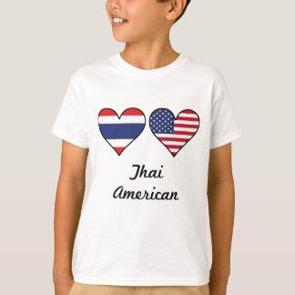Thai American Flag Hearts T-Shirt