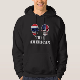 Thai American Flag Skulls Hoodie