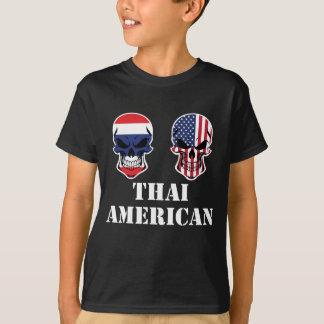 Thai American Flag Skulls T-Shirt