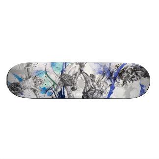 Thai Boxing Blue smoke design Skateboard
