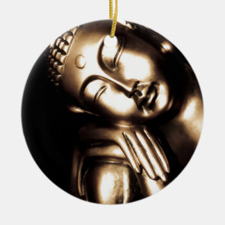 Thai Buddha Wisdom. Round Ceramic Ornament