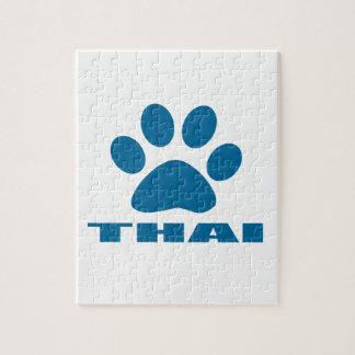 THAI CAT DESIGNS JIGSAW PUZZLE