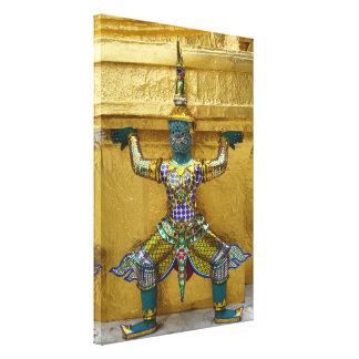 Thai Demon-Grand Palace- Wrapped Canvas Print