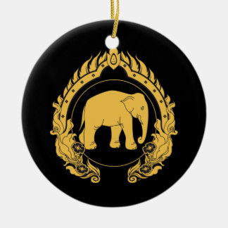 Thai Elephant Ceramic Ornament