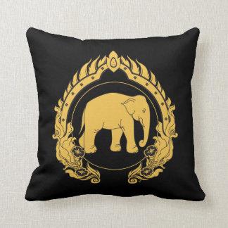 Thai Elephant Throw Pillow