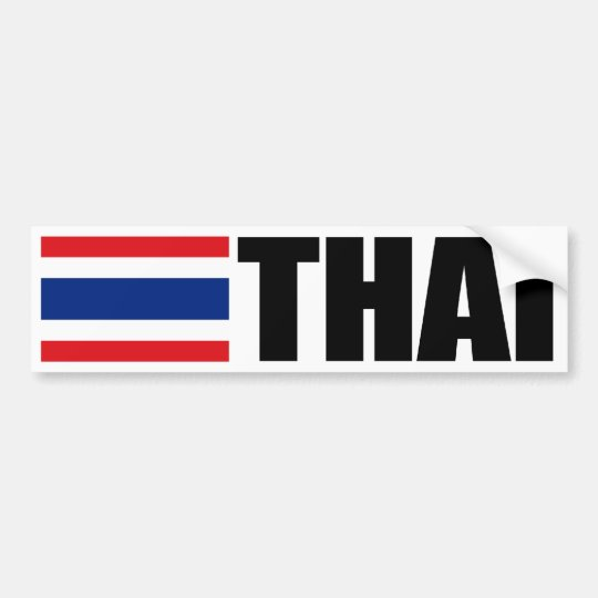 Thai Flag Bumper Sticker