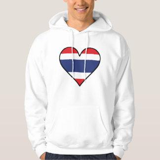 Thai Flag Heart Hoodie