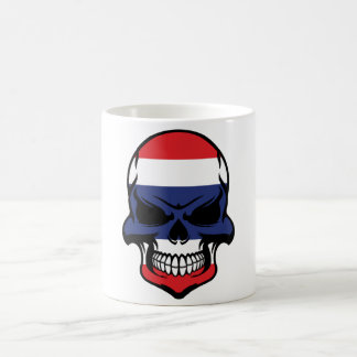 Thai Flag Skull Coffee Mug