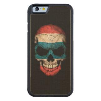 Thai Flag Skull on Black Carved Maple iPhone 6 Bumper Case