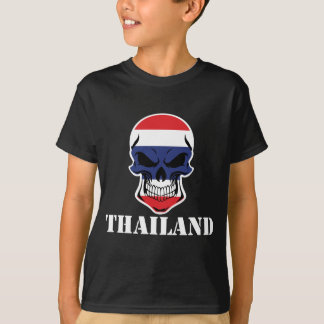 Thai Flag Skull Thailand T-Shirt