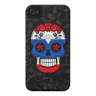 Thai Flag Sugar Skull with Roses iPhone 4 Covers