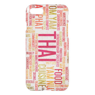 Thai Food and Cuisine Menu Background iPhone 7 Case