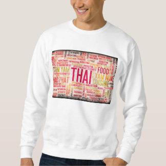 Thai Food and Cuisine Menu Background Sweatshirt
