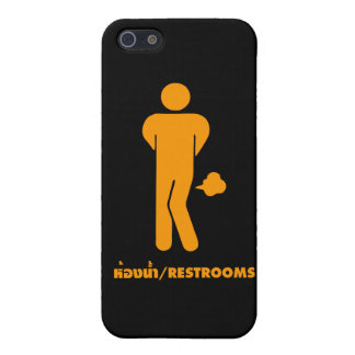 THAI FOOD CAN BE SPICY ⚠ Funny Sign : Restrooms ⚠ iPhone 5 Cases