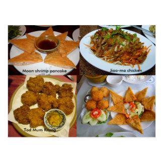 Thai food postcard