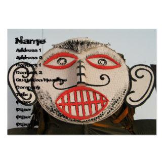Thai Ghost Face, Phi Ta Khon Mask Festival, Loei Large Business Card