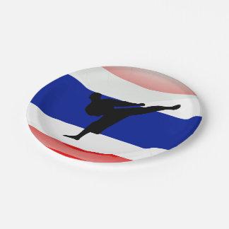 Thai glossy flag paper plate