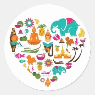 Thai heart sticker