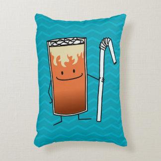Thai Iced Tea & Bendy Straw Happy Drink Thailand Decorative Pillow