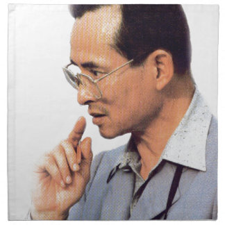 Thai King Bhumibol Adulyadej - ภูมิพลอดุลยเดช Napkin