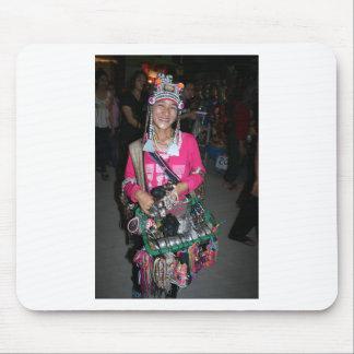 Thai Lady Selling Stuff Mouse Pad