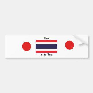 Thai Language And Thailand Flag Design Bumper Sticker