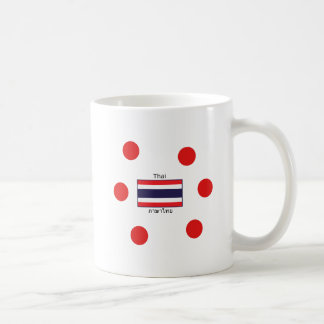 Thai Language And Thailand Flag Design Coffee Mug