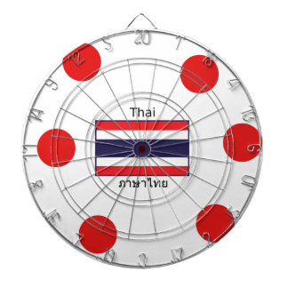 Thai Language And Thailand Flag Design Dartboard