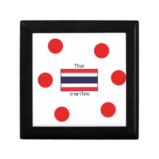 Thai Language And Thailand Flag Design Gift Box