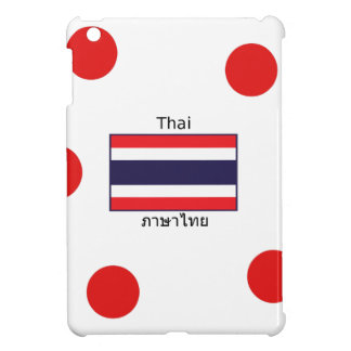 Thai Language And Thailand Flag Design iPad Mini Cases
