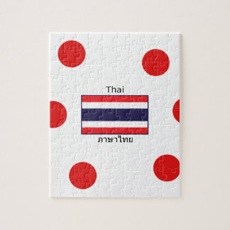 Thai Language And Thailand Flag Design Jigsaw Puzzle
