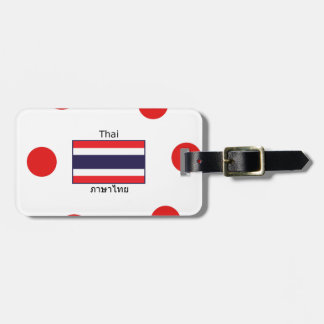 Thai Language And Thailand Flag Design Luggage Tag
