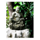Thai Laughing Buddha in Garden Postcard