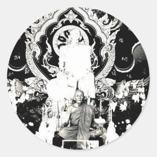 Thai Monk, Luang Pu Dul Round Sticker