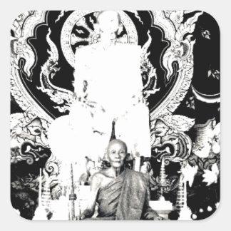 Thai Monk, Luang Pu Dul Square Sticker