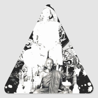 Thai Monk Luang Pu Dul Triangle Stickers