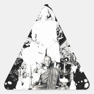 Thai Monk, Luang Pu Dul Triangle Sticker